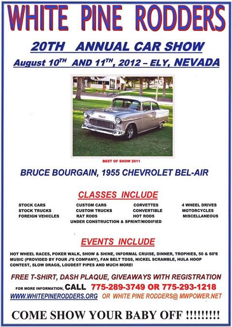 white pine rodders 20th annual car show