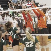 corry volley ball wins route 6 battle